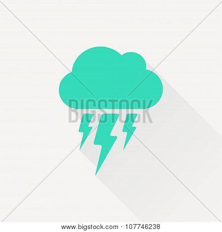 Vector flash icon. Eps