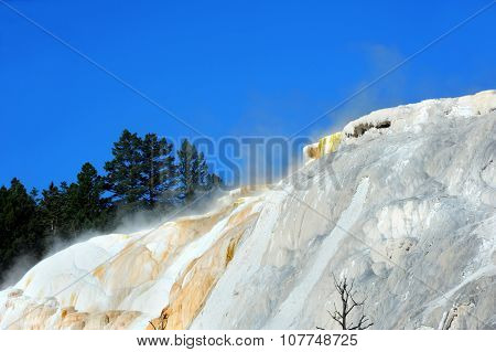 Air And Mist Of Mammoth Springs