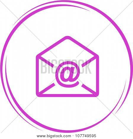 mail at-sign. Internet button. Raster icon.