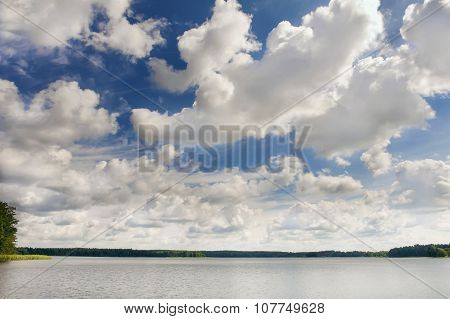 Clouds On A Lake