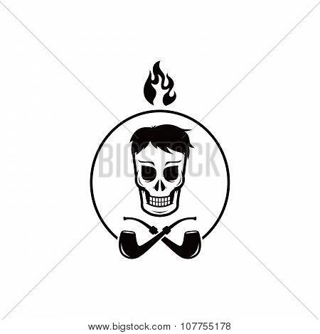 Skull Tobacco Pipe Smoker