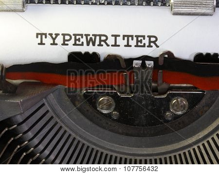Typewriter Written With Black Ink With The Typewriter