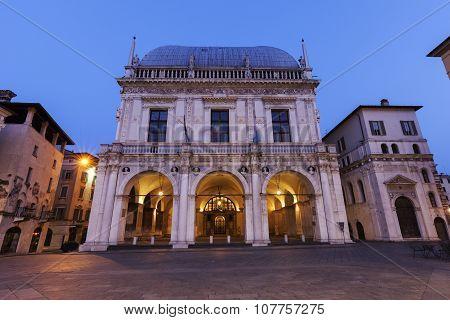 La Loggia (town Hall) In Brescia,