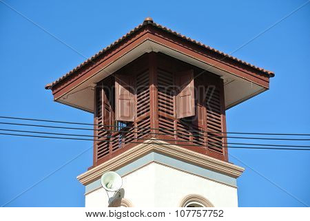 Minaret of the Kampung Paloh Mosque in Ipoh, Malaysia