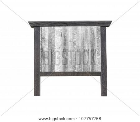 Japanese Old Wood Signs Isolated On White.