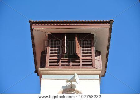 Minaret of Kampung Paloh Mosque in Ipoh, Malaysia