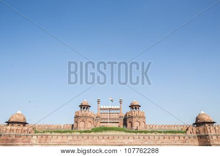 Red Fort On Blue