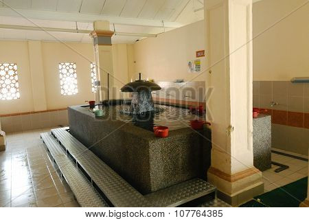 Ablution of Kampung Paloh Mosque in Ipoh, Malaysia