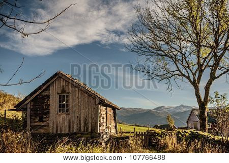 Old norwegian traditional house