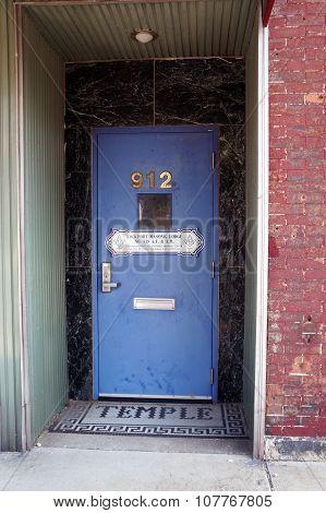 Masonic Lodge Temple Door