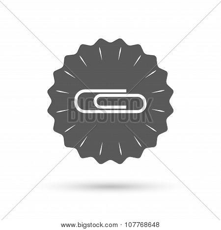 Paper clip sign icon. Clip symbol.