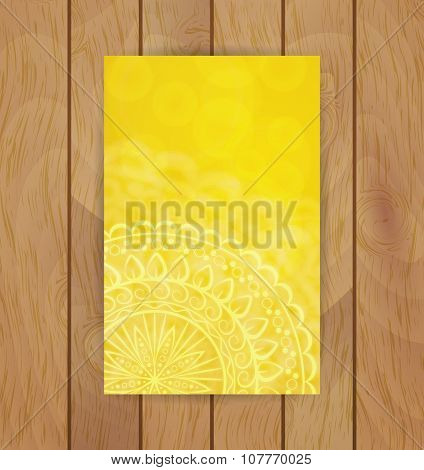 Yellow floral banner