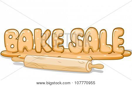 Illustration of a Rolling Pin Sitting Beside a Stick of Bread