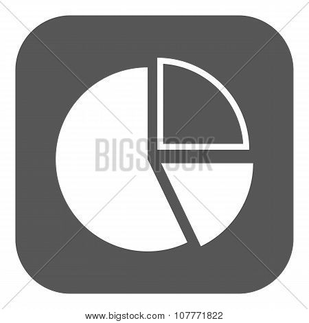 The diagram icon. Chart and infograph, infographic, graph, flowchart symbol. Flat