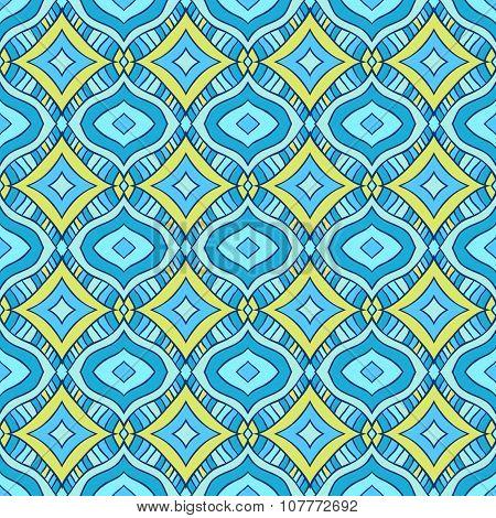 Blue and yellow rhombus