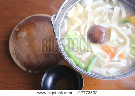 Japanese Noodle Soup Of Udon Ramen (in Japanese Cooking).