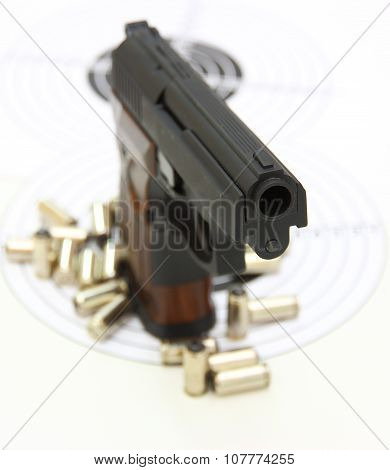 Pistol With The Brown Handle