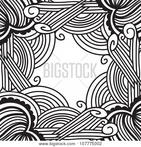 Handdrawn abstract frame