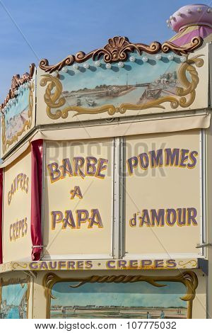 Detail of a candy store, Normandy, France