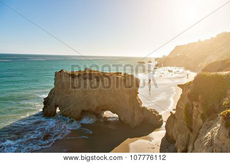Beautiful and romantic El Matador Beach in Malibu