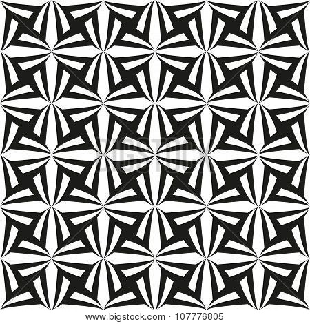 Monochrome tulips pattern
