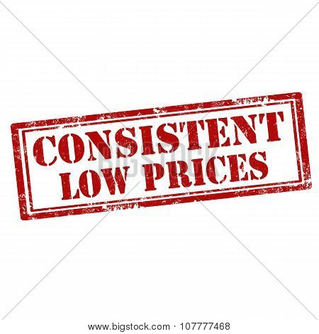 Consistent Low Prices