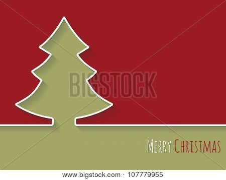 Simplistic Christmas Greeting With White Tree
