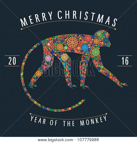 Christmas multicolor Monkey