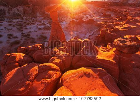 Sandstone formations in Utah, USA.