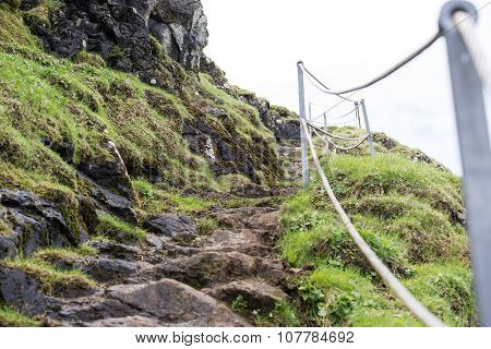 Walking Path Along A Cliff