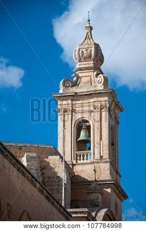 Detail Belfry Church Mdina , Malta.nef