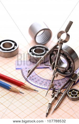 Drawing Instrument And Ball Bearings