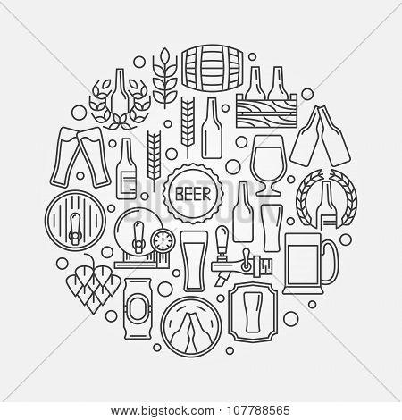 Beer round logo