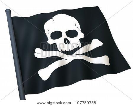 Flag Skull And Crossbones