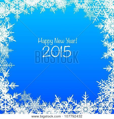 Blue and white Merry Christmas vector background