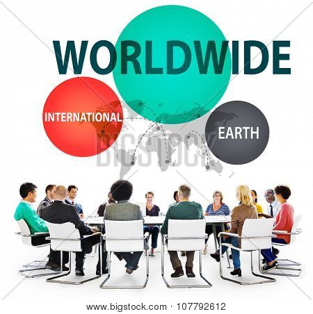 Worldwide International Earth Networking Connection Concept