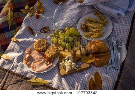 Picnic Food Set Background