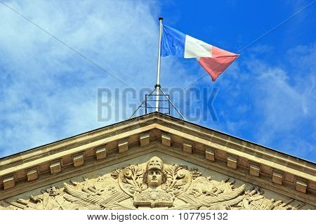 The republic and the French Flag (Paris France)