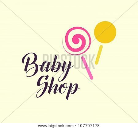 Hand drawn vector sample of baby logo.