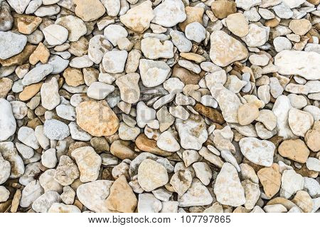 Natural Background Of Rough Boulders And Pebbles