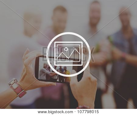 Preview Photograph Icon Image Picture Symbol Concept