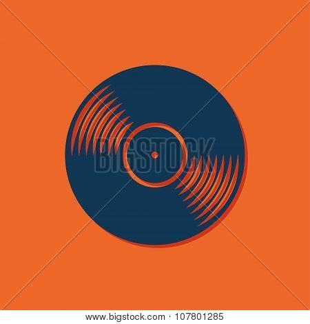 Vector vinyl icon