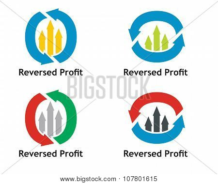 Financial Concept. Reversed Profit Sign