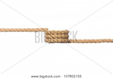 Rope isolated on the white background