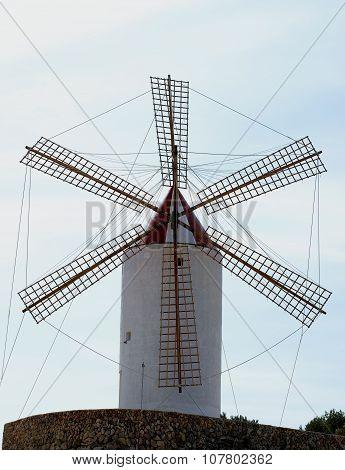 Old Rustic Windmill