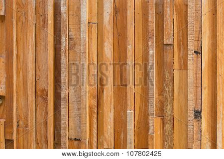 Timber Wood Brown Stick Used Wall Texture Background