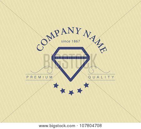 Vector jewelry and diamond logo