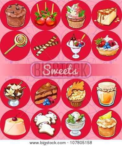 Great set of sweets and pastries