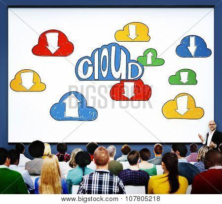 Cloud Link Computing Technology Data Concept