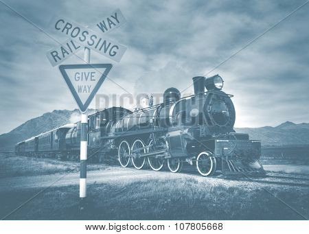 Old fashioned Steam Locomotive Kingston Rural Concept